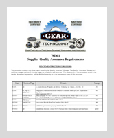 GEAR TECHNOLOGY SUPPLIER QUALITY ASSURANCE REQUIREMENTS / WORK INSTRUCTION 6.1