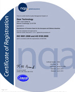 GEAR TECHNOLOGY ISO 9001:2008 & AS9100C CERTIFICATION
